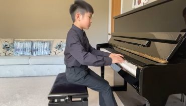 Cameron at Piano