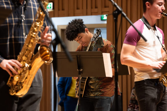 Chetham's students in jazz concert rehearsal