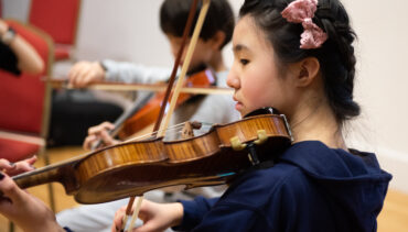 Junior Strings players at Chetham's
