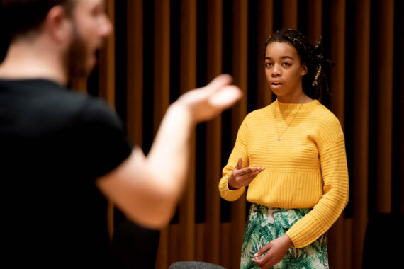Chetham's choral student sings