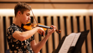 Chetham's School of Music strings student performs