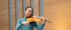 Chetham's violin student performs